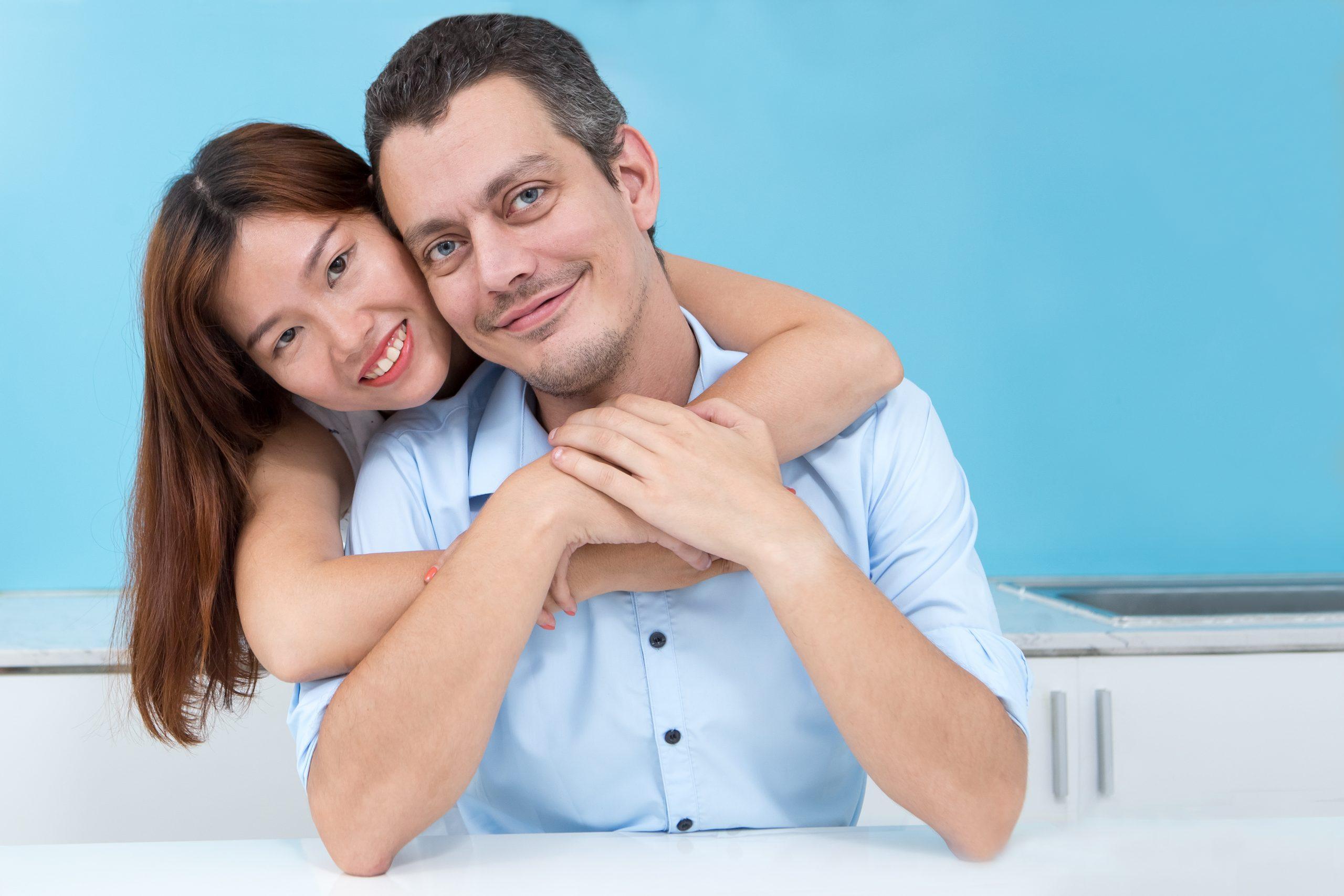 Smiling japanese women like american man